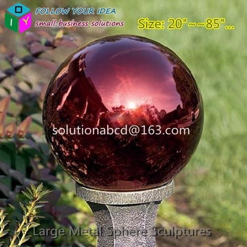 Large Custom Metal Colorful Garden Spheres