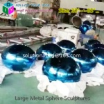 large custom metal colorful custom spheres